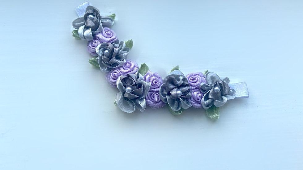 Limited Editon RBS Lilac and Grey Bun Pin