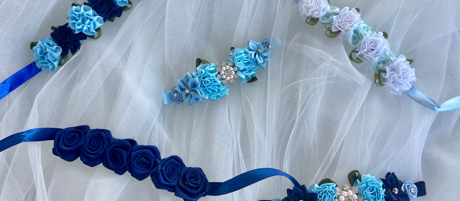 Blue Bun garlands raising funds for our        NHS