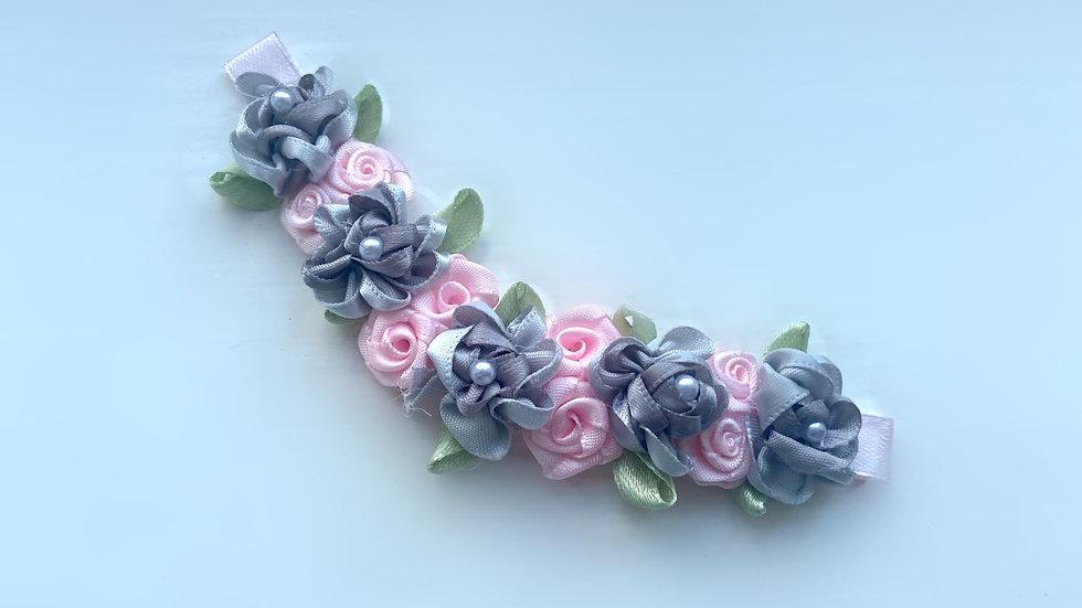 Limited Editon RBS Baby pink and Grey Bun Pin