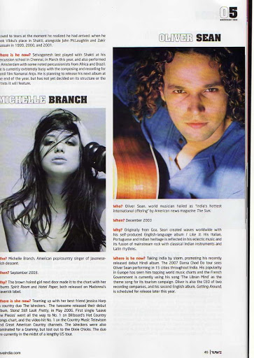 Oliver Sean Michelle Branch Magazine Feature