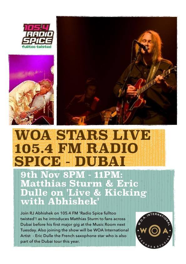 WOA Tour artists on spice fm dubai