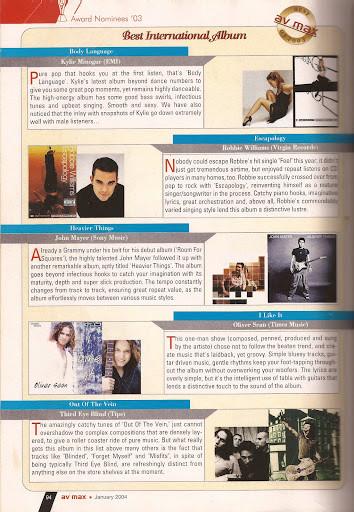 Oliver Sean AVMax Album of Year Feature.