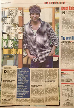 Oliver Sean Hometown Times of India