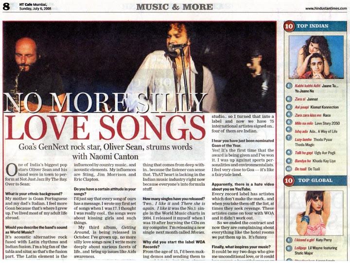 HT Cafe Oliver Sean Band