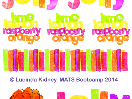 Jelly Bolt Fabric design for MATS Bootcamp March 2014
