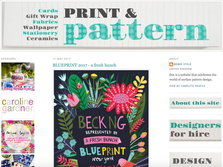 Featured on Print and Pattern Blog
