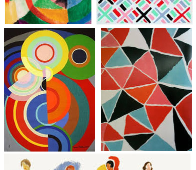 Sonia Delaunay and Agnes Martin