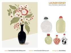Chinese Vase and Scent Bottles