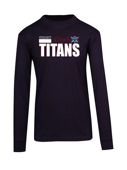 Titans Abstract Long Sleeve Tee (Mens)