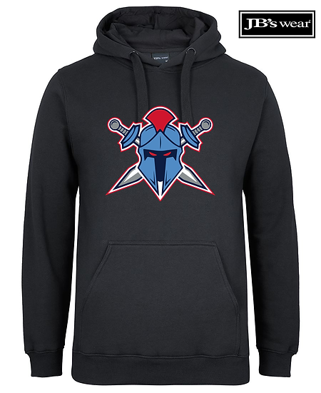 Titans Helmet Logo JB Wears Fleecy Hoodie (Unisex)