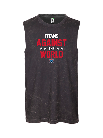Titans Against the World Stone Washed Tank (Mens)