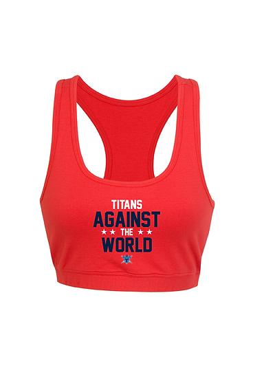 Titans Against the World Y-Back Crop Top (Ladies)