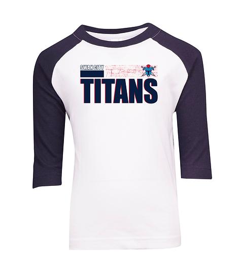 Titans Abstract 3/4 Sleeve Raglan Tee (Kids)