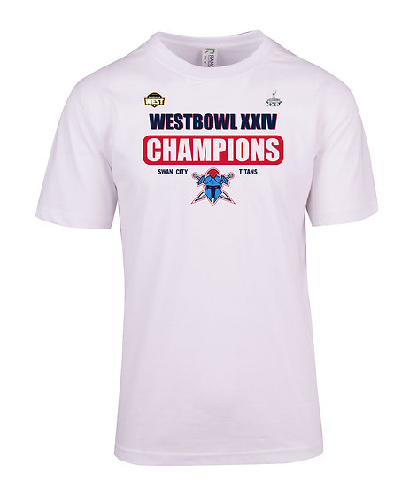 Titans 2018 West Bowl XXIV Champions T-Shirt (Adult)
