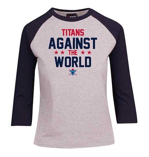 Titans Against the World 3/4 Sleeve Raglan Tee (Ladies)