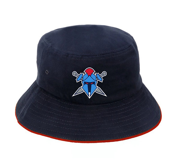 Titans Helmet Logo Brushed Cotton Bucket Hat