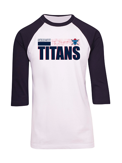 Titans Abstract 3/4 Sleeve Raglan Tee (Mens)