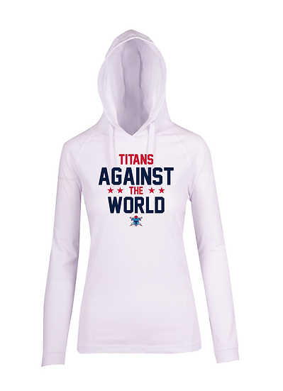Titans Against the World FUSION T-shirt Hoodie (Ladies)