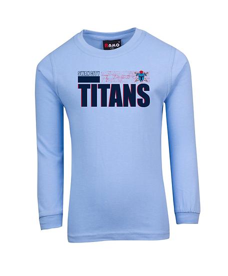 Titans Abstract Long Sleeve Tee (Kids)