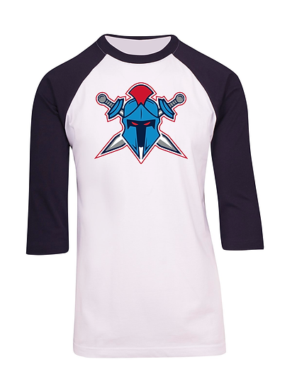Titans Helmet Logo 3/4 Sleeve Raglan Tee (Mens)