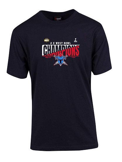 Titans 2020 West Bowl XXVI Champions T-Shirt (Adult)