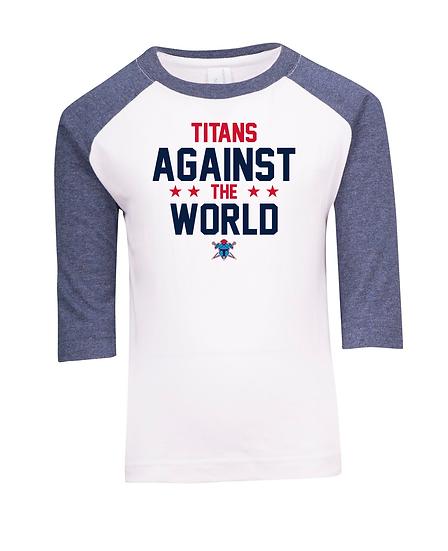 Titans Against the World 3/4 Sleeve Raglan Tee (Kids)