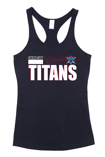 Titans Abstract T-Back Singlet (Ladies)
