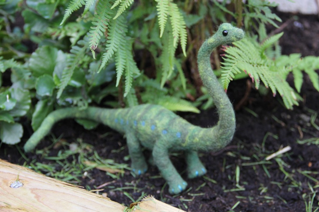How to Make a Felted Dinosaur