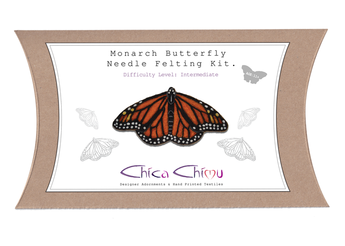 Monarch Needle Felting Kit