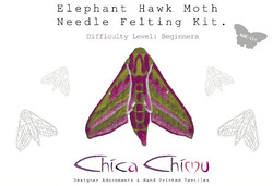 Elephant Hawkmoth Needle Felting Kit