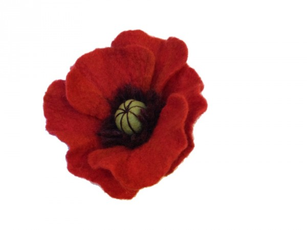 How to Make a Felted Poppy
