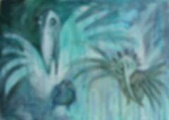 to catch a golden bird, bird painting, fantasy birds
