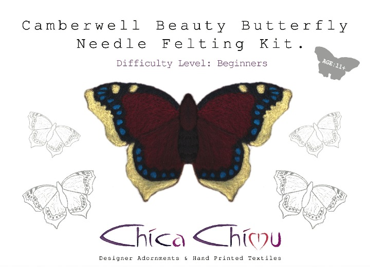 Camberwell Beauty Needle Felting Kit
