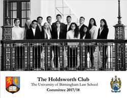 Holdsworth Committee 2017-18