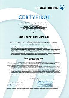 Certyfikat gwarancji ubezpieczenia 2019