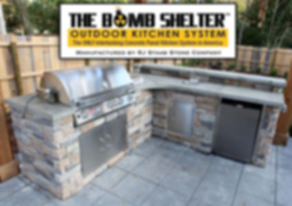 The bomb shelter outdoor kitchens