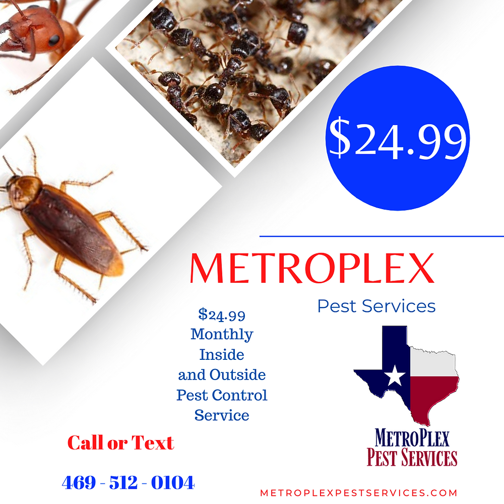 MetroPlex Pest Services - $24.99 Monthly Inside and Outside Pest Service