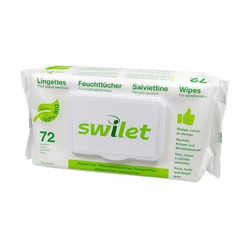Swilet Feuchttücher Bio Karton (12 x 72 STK)