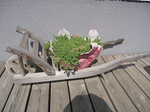 Schubkarre aus Holz