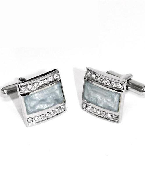 Silver Stone Cufflinks