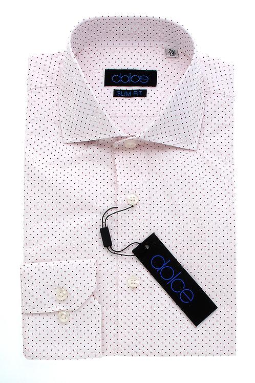 White Pattern Italian Slim Dress Shirt