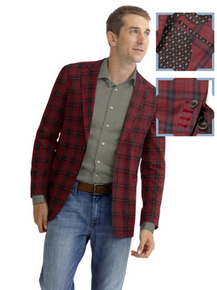 Red Navy Plaid