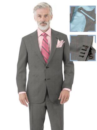 Grey Pink Windowpane