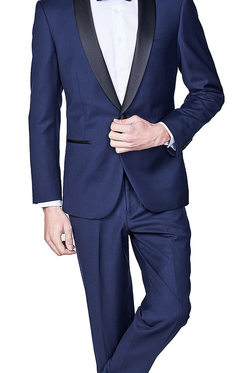 Navy Italian Slim Tuxedo, Shawl Lapel