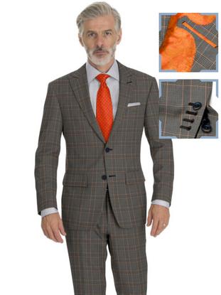 Grey Orange Check