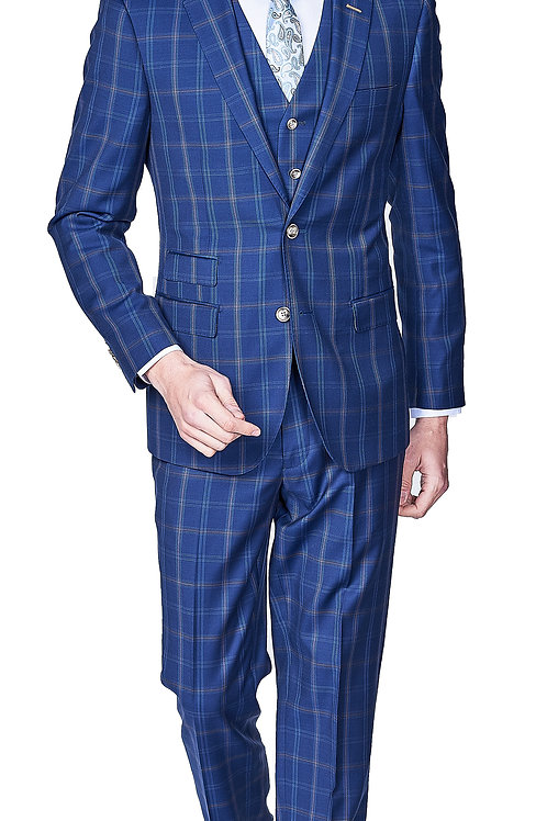Blue Italian Slim Suit