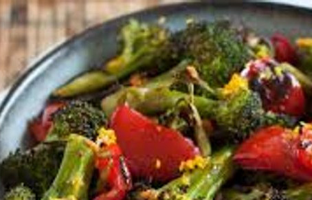 BBQ'D BROC AND PEPPERS