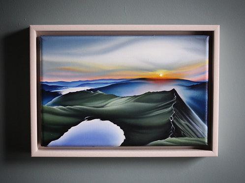 'Sky Glow, Striding Edge' Oil Painting