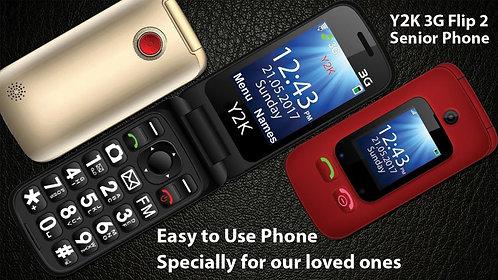 Y2K 3G Flip2 Senior Phone