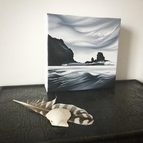 'Crashing Waves At Talisker, Skye' Oil Painting